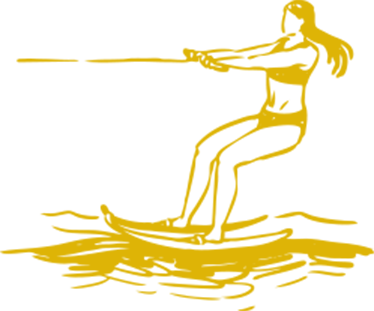 Water Skiing Graphic