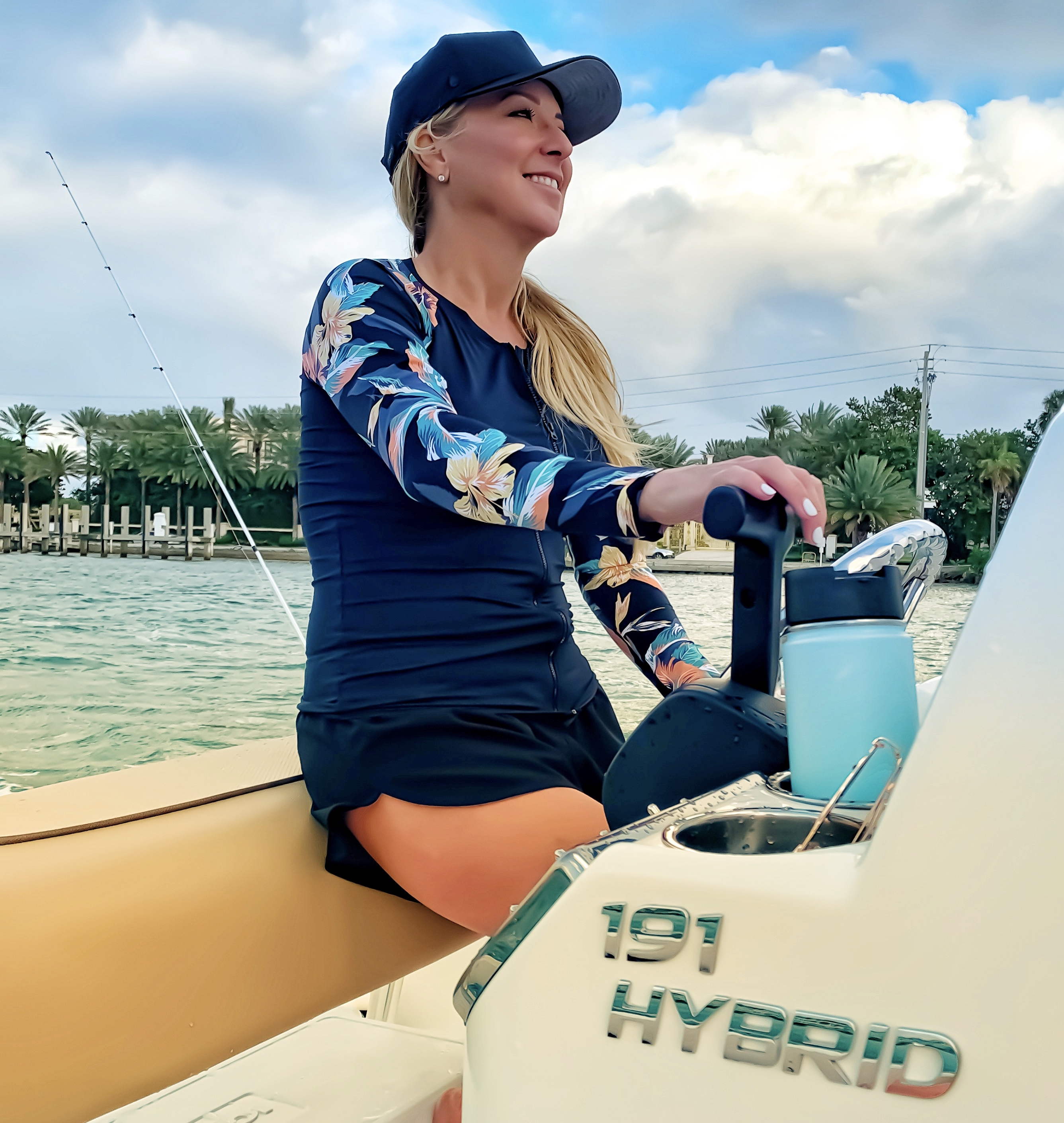 191 Hybrid Boat with Woman Captaining